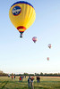 The sky was filled with color and detail as the contestants in the Great Balloon Race began their journey East.