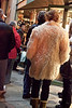 Fancy imported Yeti fur is all the rage on sidewalks attached to art galleries. (Photo by Marty Pearl)
