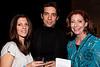 Paula Gomez, Stephen Buss and Joyce Jennings enjoyed a lighter moment. (Photo by Marty Pearl)