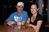 Kara Bradach and Justin Corey stop into Angels for a late night drink. (Photo by Marty Pearl)