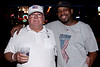 Kevin Ivory of Philadelphia, PA & Jim Barnes of Northeast, PA take in the local flavor of Louisville's nightlife. (Marty Pearl)