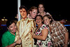 Mary Bratcher celebrates her birthday with Noelle Kordes, Amanda Fritz, a cardboard Elvis, and others on the upper deck