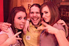Josh Cummings loves his ladies, and this case, it's Kristy Armenrout and Leisl Conley. (Photo by Marty Pearl)