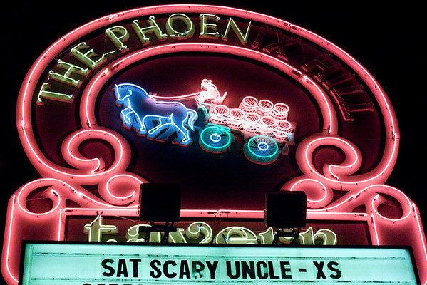 The sign says it all. Scary Uncle and XS played on Saturday and you have just reviewed the proof. (Photo by Marty Pearl)