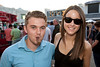 Reed McGee and Lauren Meek enjoy some horse racing, great weather, live music and good times at Churchill Downs on Friday night. The historic track featured musician Citizen Cope as part of its ongoing Paddock Concert Series.