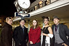 Joanna A. Stepp, Cail Shane, Rachel E. Breitenstein, Jenna Bryant, and Abraham Duncliffe soak up some atmosphere of the night racing.