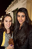 Katie DeAngelis and Ayesha Singh were all smiles on a brisk evening at the track.