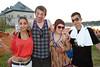 Ashley Nagy, Evan Taylor, Tara Montgomery, and Minh Do know how to party.