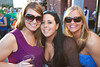 Jona Luttrell joins birthday celebrants Meredith Jones and Melissa Luttrell for a little partying alfresco.