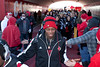 Quarterback Teddy Bridgewater greets his fans during the pre-game tradition of the Cards March.