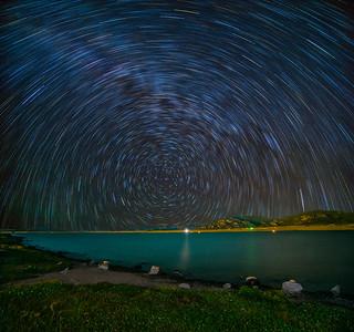 Star Trails at midnight