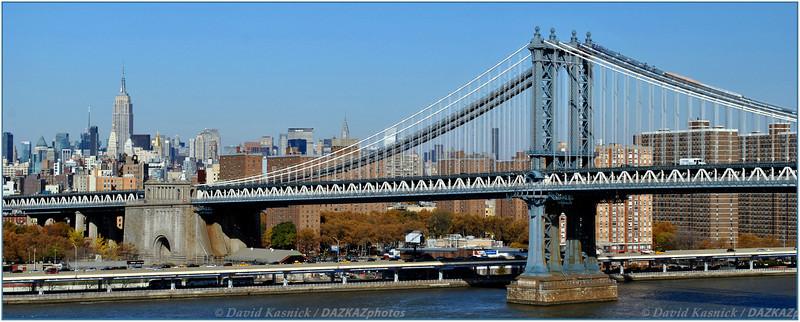 Manhattan Bridge Skyline - New York City