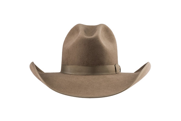 Hat Name:  Tom Horn, Hat Color:  Natural, 0° - Rand's Custom Hat, Billings MT