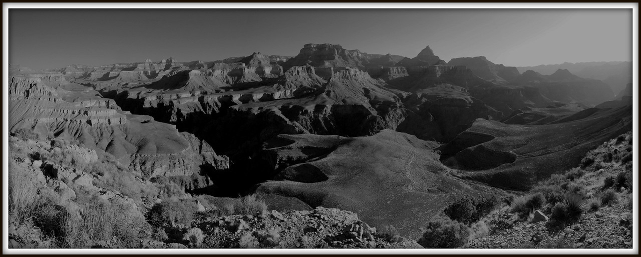 Sunrise on Horseshoe<br /> <br /> Grand Canyon National Park -- from the Western tip of the horseshoe mesa.  Incredible scenes unfolded after packing up the tent for the morning.  Nothing like sleeping under the rim!