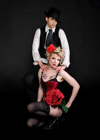 Drag and Burlesque performers M. Mister and Wendy Delorme of the Drag King Femme Show, Paris, France