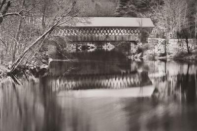 """Covered Bridge At Night"""