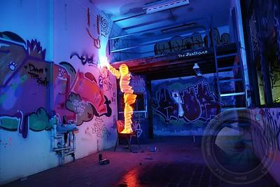 Lightpainting Light-Man