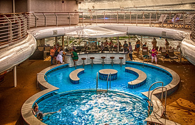 """Adults Only"" pool area, on the ""Disney Dream,"" prior to sailing away from Port Canaveral."