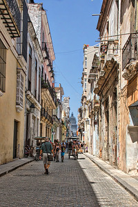 Calle Brasil with a view of the Capitoilo in the distance