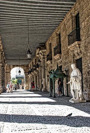 Outside promenade Palacio de los Capitales Generales