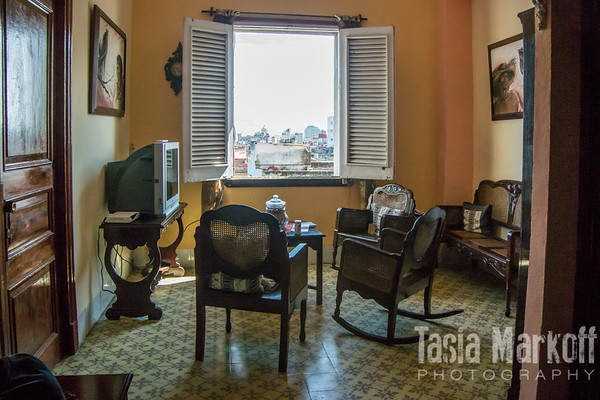 Our sitting room in Central Havana