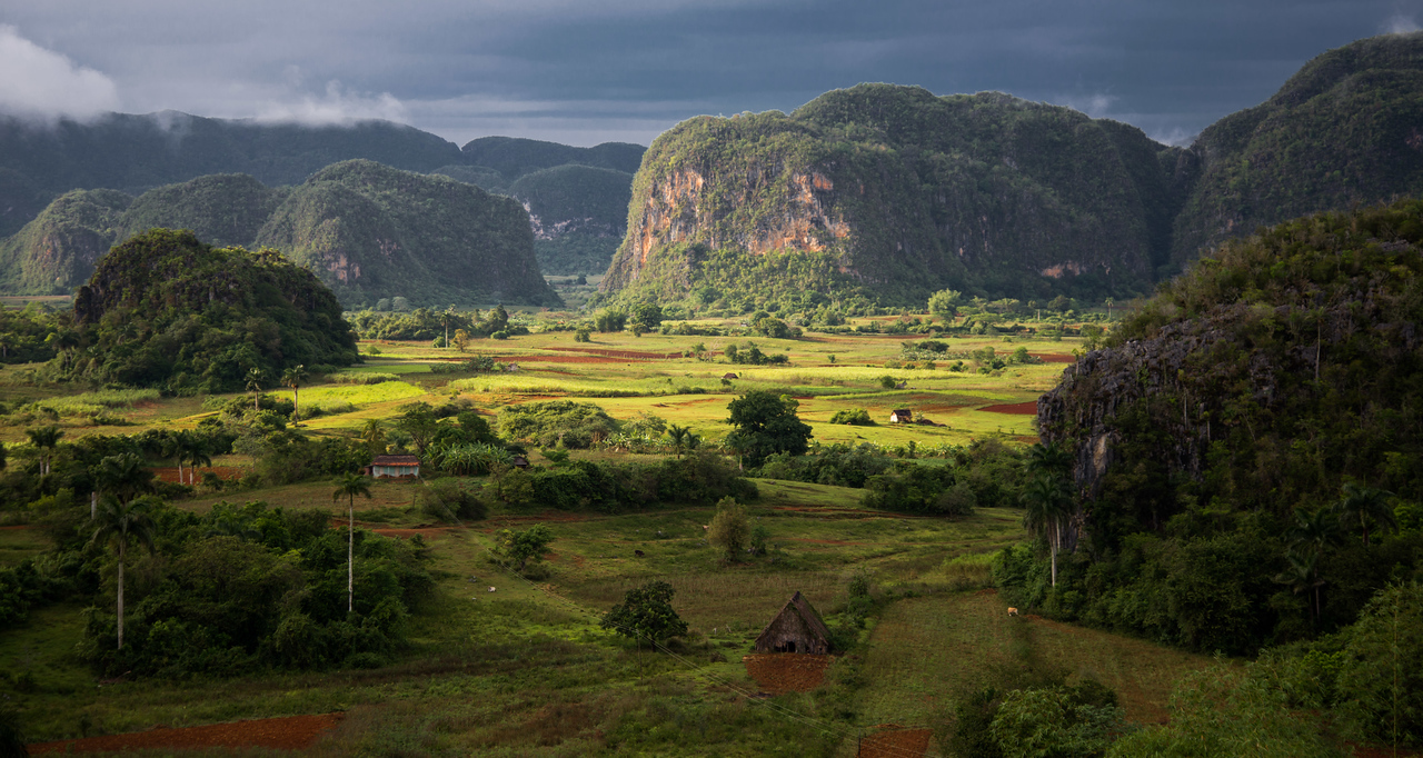 Sunset on Mogotes, Vinales, Cuba.