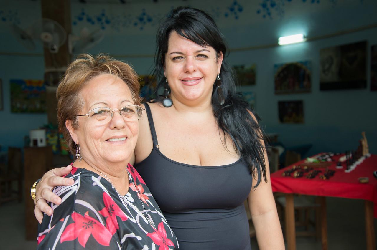 Two Women, La Muraleando Project, Havana.