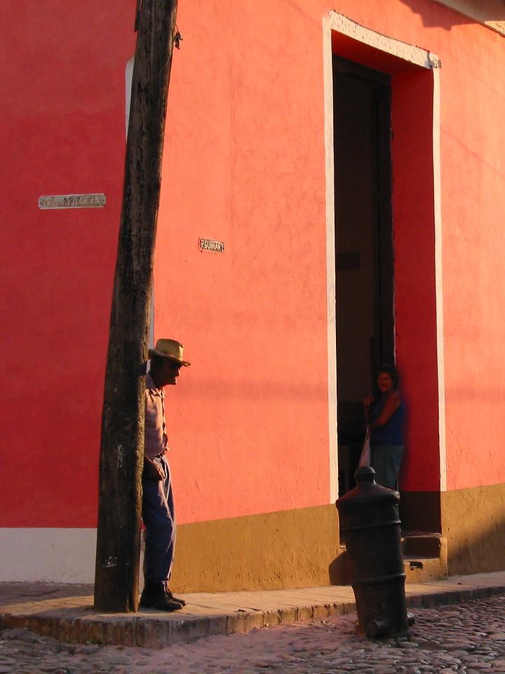 Ma.n on Street Corner, Trinadad, Cuba