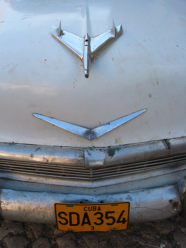 Hood of Old American Car, Trinadad, Cuba.