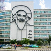 Fidel. Another building depicts Che