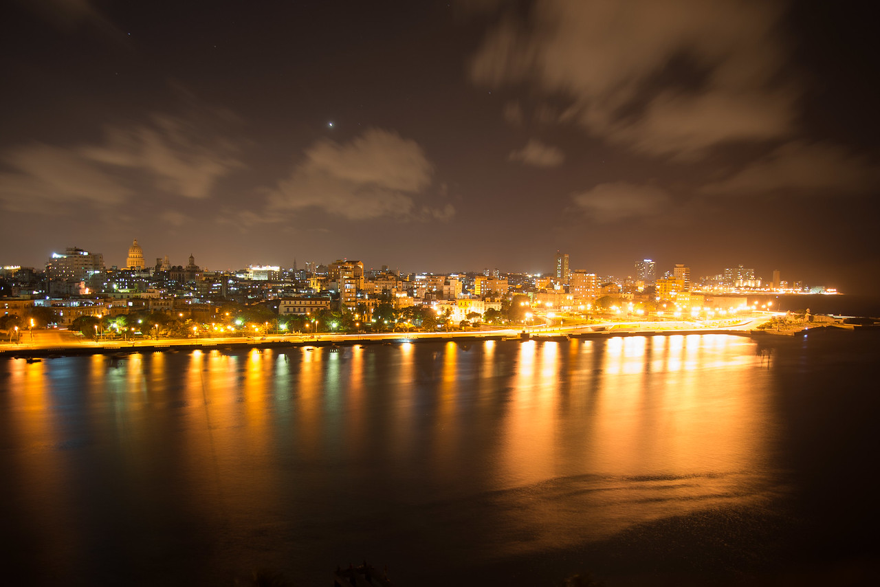 Havana at Night, Cuba.