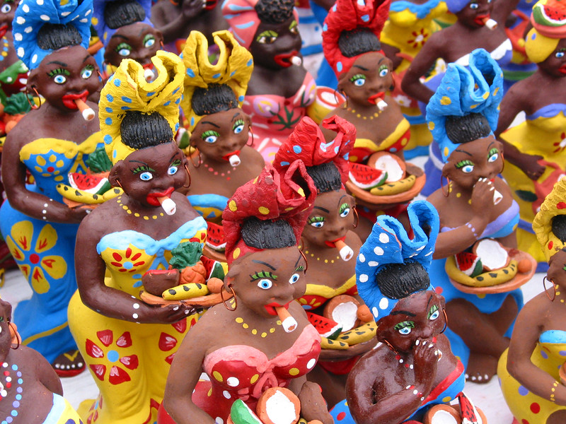 Cigar Smoking Figurines, Havana, Cuba.