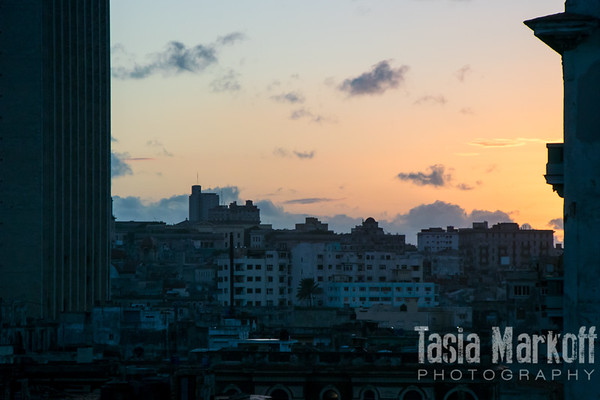 Sunset in Havana