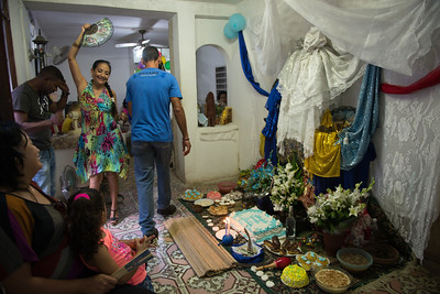"A feast for a ""Cumpleaño de Santo"". La Havana, April 2014."