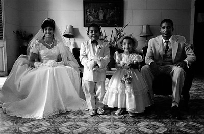A wedding in Casa de Los Matrimonios. La Havana, March 2002
