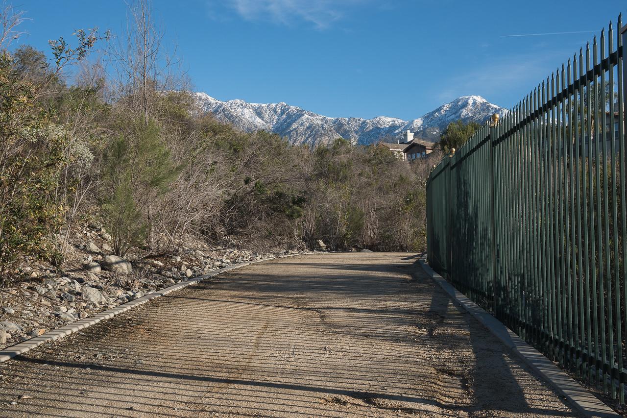 Upper trail working its way around Cucamonga Basin 6