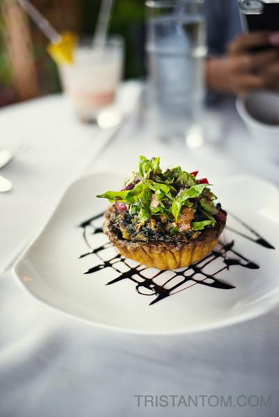 Swiss Chard & Mushroom Tart from Hukilau Lanai restaurant, Kauai, HI