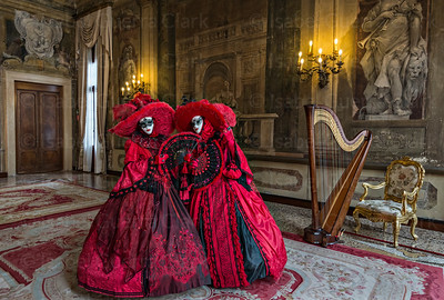 Two Carnival Beauties, Venice