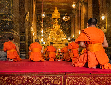 Buddha worshippers, Bangkok