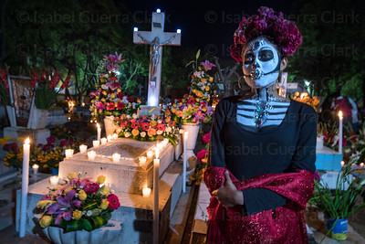 Catrina at the Cemetery, Oaxaca
