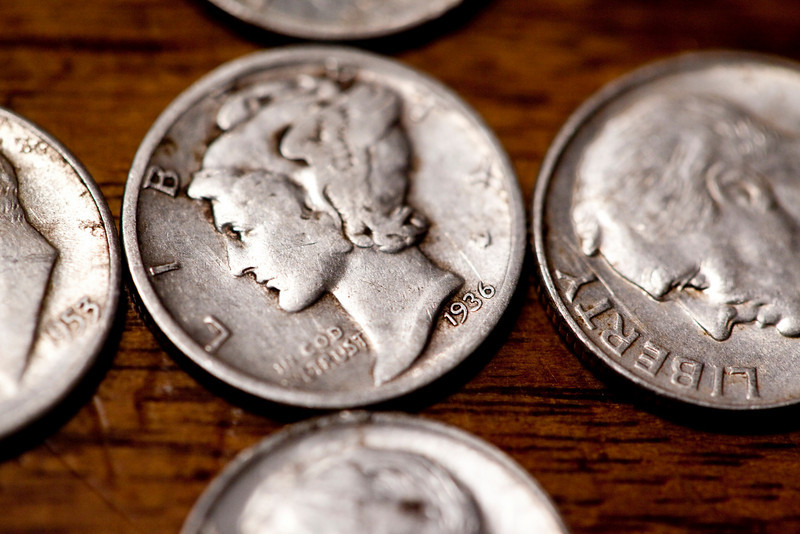 My dad was in Moscow for his birthday this year so we got to celebrate with him.  It was a fun day. These are the five silver dimes he found on his birthday at the County Fairgrounds in Moscow, Idaho.