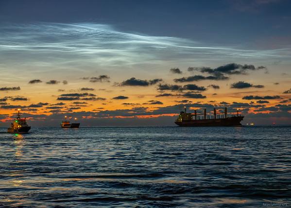 NLCs über der Nordsee