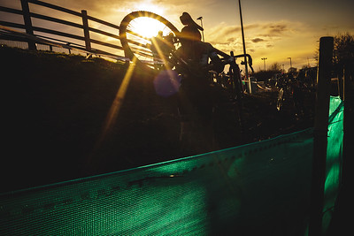 Sunset at Round 6 of the Cyclocross National Trophy 2019