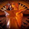 COPENHAGEN. GRUNDTVIGS CHURCH. BISPEBJERG. 1921-1940. STATUE OF JESUS CHRIST.