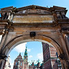FREDERIKSBORG SLOT. HILLEROD. ZEALAND. DENMARK. ENTRANCE GATE.