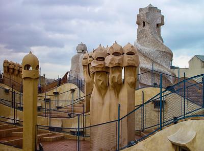 Barcelona_Gaudi Roof