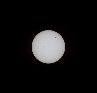 Venus transiting the sun