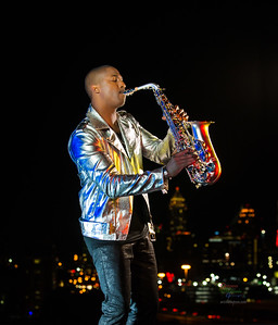 Photo shoot with Sax great, Eric Darius