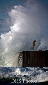 Photoshop is the best!  I love it! I have always wanted to see waves like this.  When I did, I was so happy to get the shot!  Later I put myself in.  One of my faives!