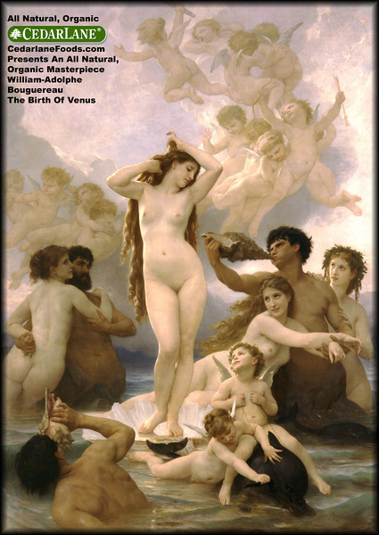 Web Ad - Cedarlane Natural Foods Presents An All Natural, Organic Masterpiece - The Birth Of Venus